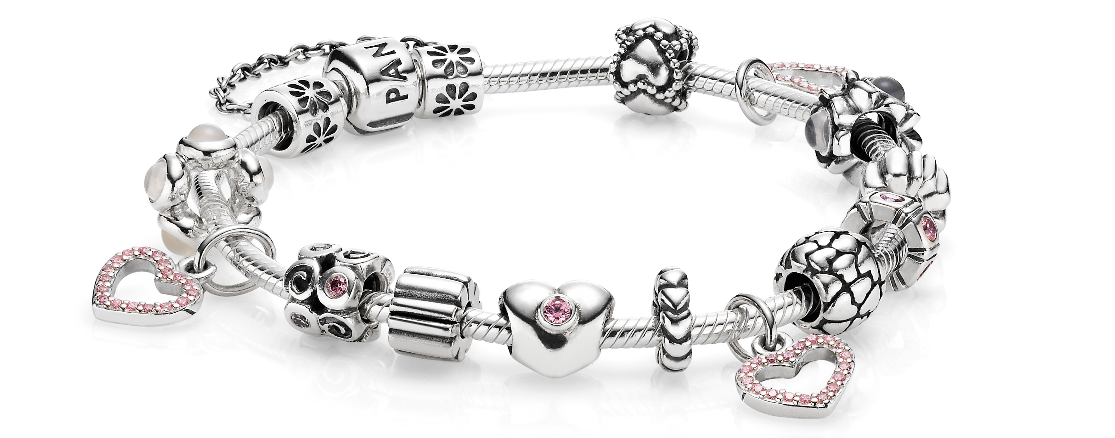 silver store bracelet hearts sale fits of pandora product no charms style charm ale jewelry