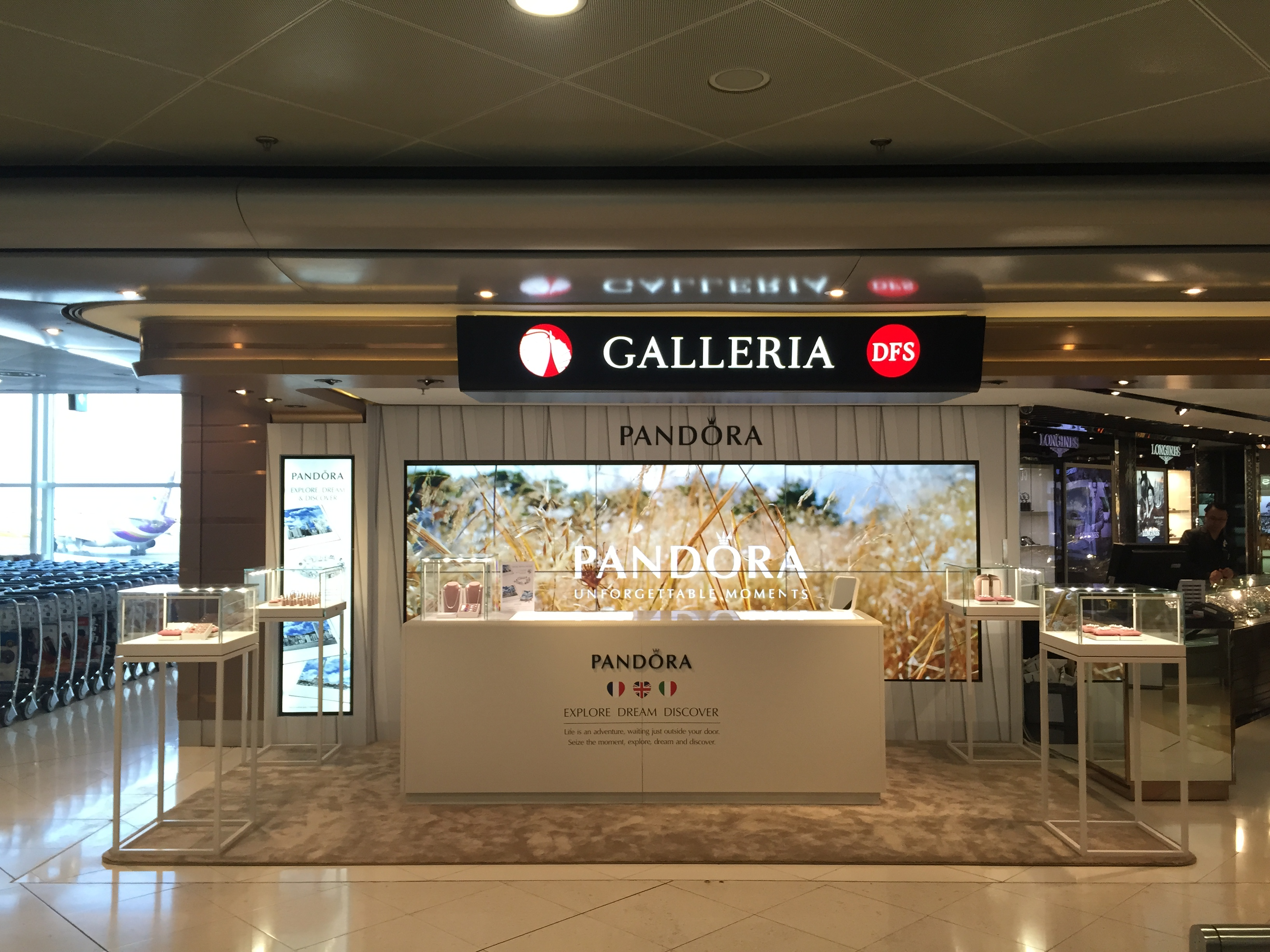 Pandora teams up with DFS for special promo space at HKIA