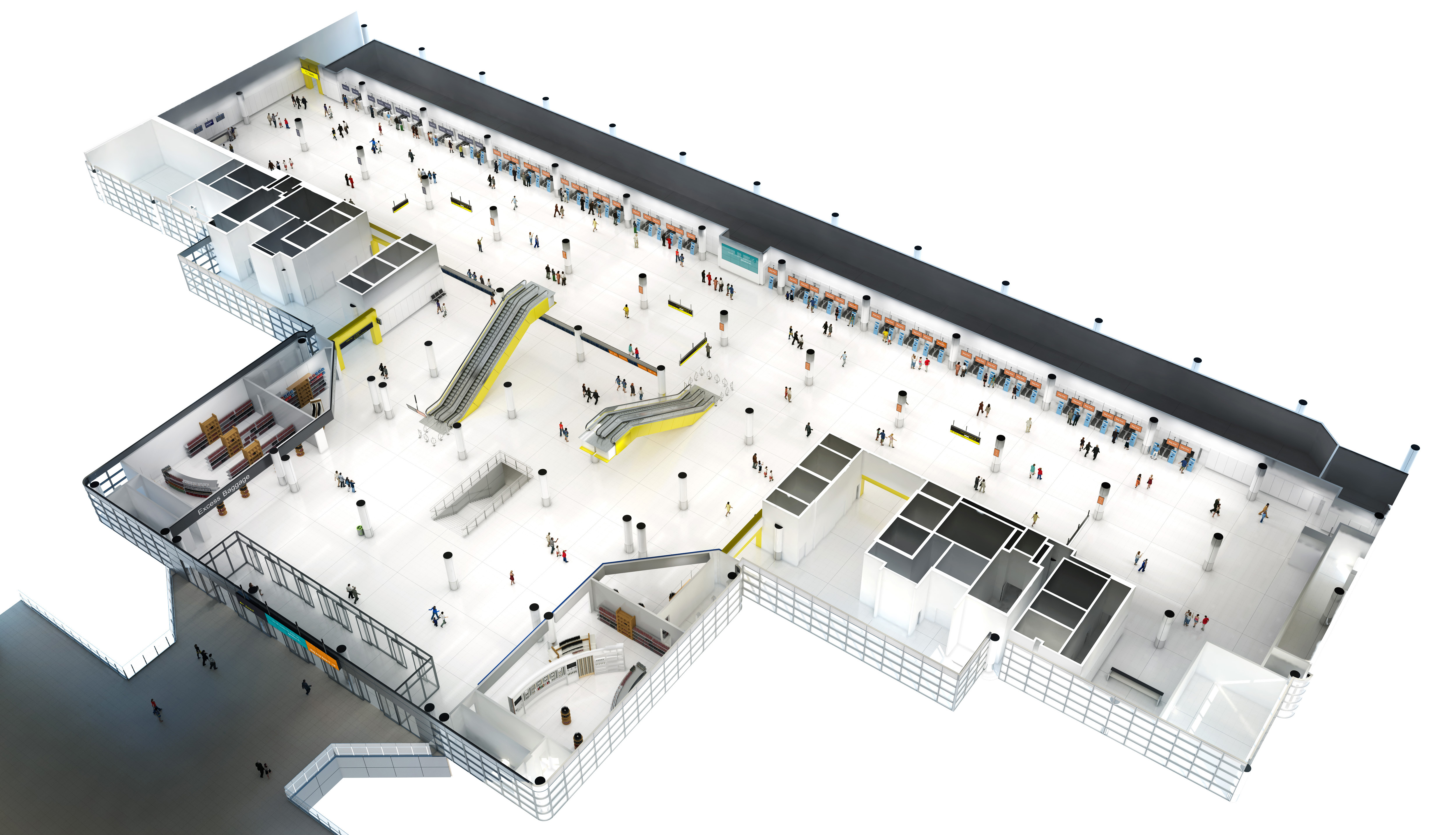 Gatwick earmarks 21 million to enhance retail space at north terminal gatwick artist view m4hsunfo
