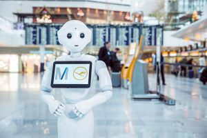 The robot will be used to welcome travellers and answer questions