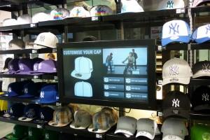 393307e32032f Interactive touchscreen helps Footlocker customers design their own  baseball caps