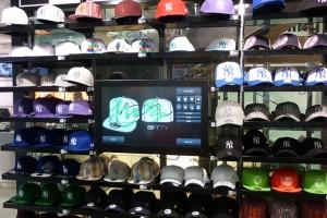 Interactive touchscreen helps Footlocker customers design their own baseball  caps ccd53ec22c9