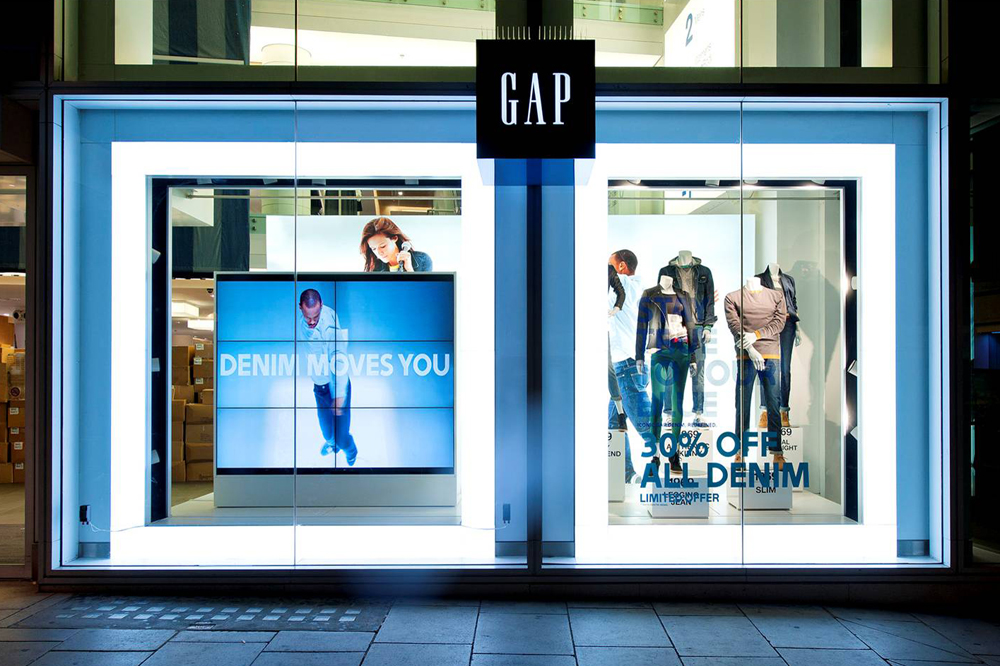 'Invisible audio' inserted into Gap shop windows across Europe