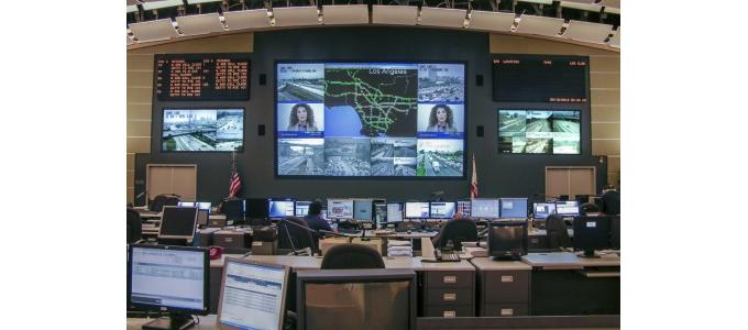Electrosonic upgrades 12-screen videowall at L.A. traffic facility
