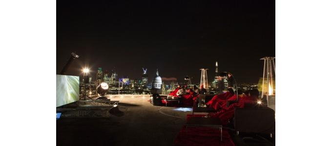 Rooftop Virgin Movies launch sees Yamaha Rise with The Dark Knight