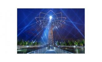 Tree of Life installation blooms with d3 at Milan Universal Exposition