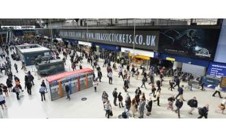 JCDecaux transforms Waterloo Station into Jurassic World