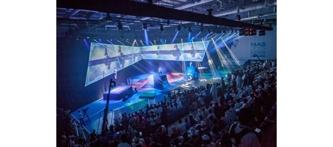 Multi-screen video at Dubai opener