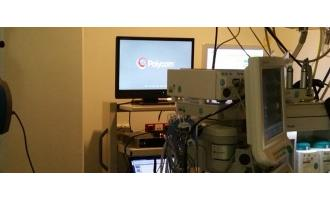 First use of Polycom video to broadcast surgery live in 3D