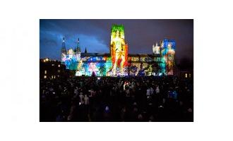Medieval scientist inspires art projection at Durham Lumiere