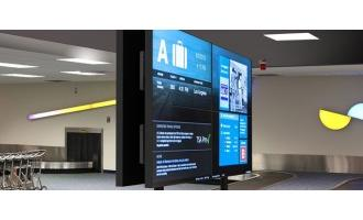 Peerless-AV back-to-back digital signage mount suits high-traffic locations