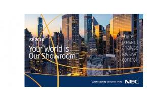 NEC groups display solutions under five themes at ISE 2016