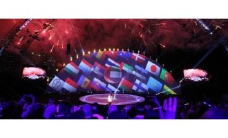 Protec's complex mapping at World Air Games opening ceremony