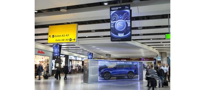 Jaguar brings the F-PACE to life at Heathrow Airport