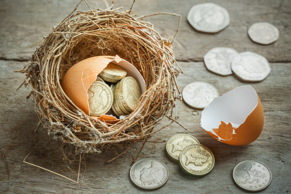 break open nest egg pension savings