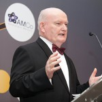 Prof Bill Shannon speaking at the Irish Healthcare Awards in Dublin