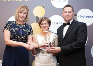 L-r: Julie Murphy, Commercial Director, Sales & Marketing, Mylan; Bernie Hannon, Clinical Nurse Manager 2, Veins Unit, St James's; and Sean O'Neill, Consultant Vascular Surgeon, St James's, at last year's awards ceremony