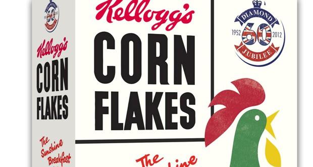 Vintage Cornflake box 3D. mn