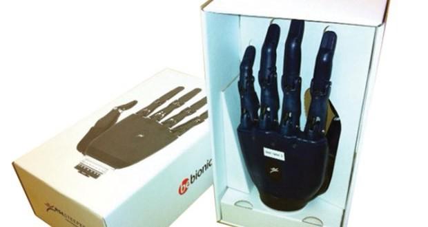 RSL BeBionic hand Smurfit Kappa box