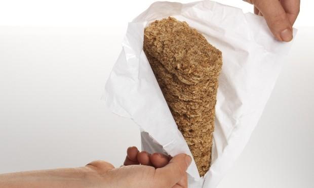 Weetabix paper wrap open