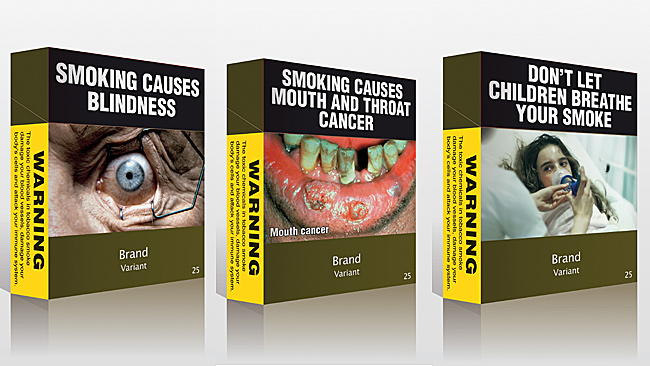Australian 'plain' cigarette packs