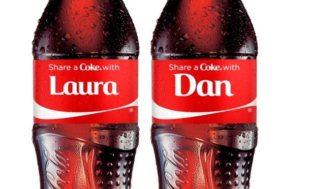 Photo of Coca Cola personalised bottles