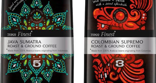 Pw Designs Tesco Finest Coffee Range