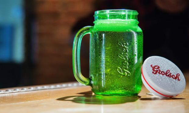 grolsch offers beer in a jar