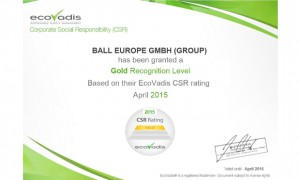 Ball achieves top EcoVadis rank