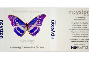 Royston Award winning butterfly label