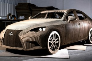 Lexus car made from Calibre HD board