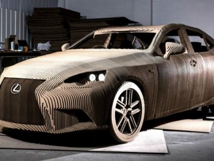 Lexus car made from Calibre HD board