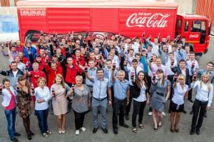 Staff at Coca-Cola HBC Russia