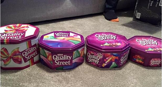 Nestle Fends Off Shrinking Quality Street Tin Sizes Criticism