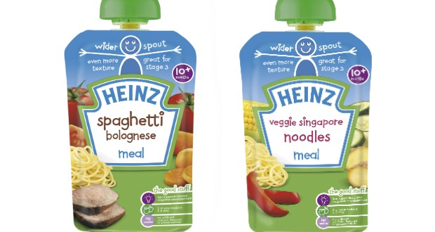 Heinz Baby Introduces Stage 3 Pouches With Spout