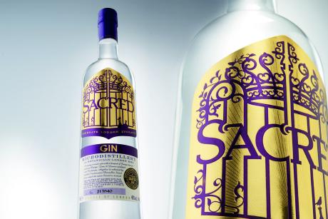 Sacred bottle and label CMYK