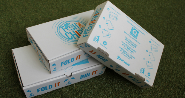SAICA Pack and Q-Partnership team to re-design fish & chip box
