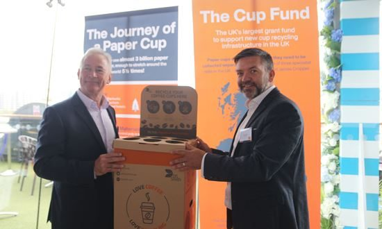 DS Smith wins thecupfund grant for Coffee Cup Drop Box