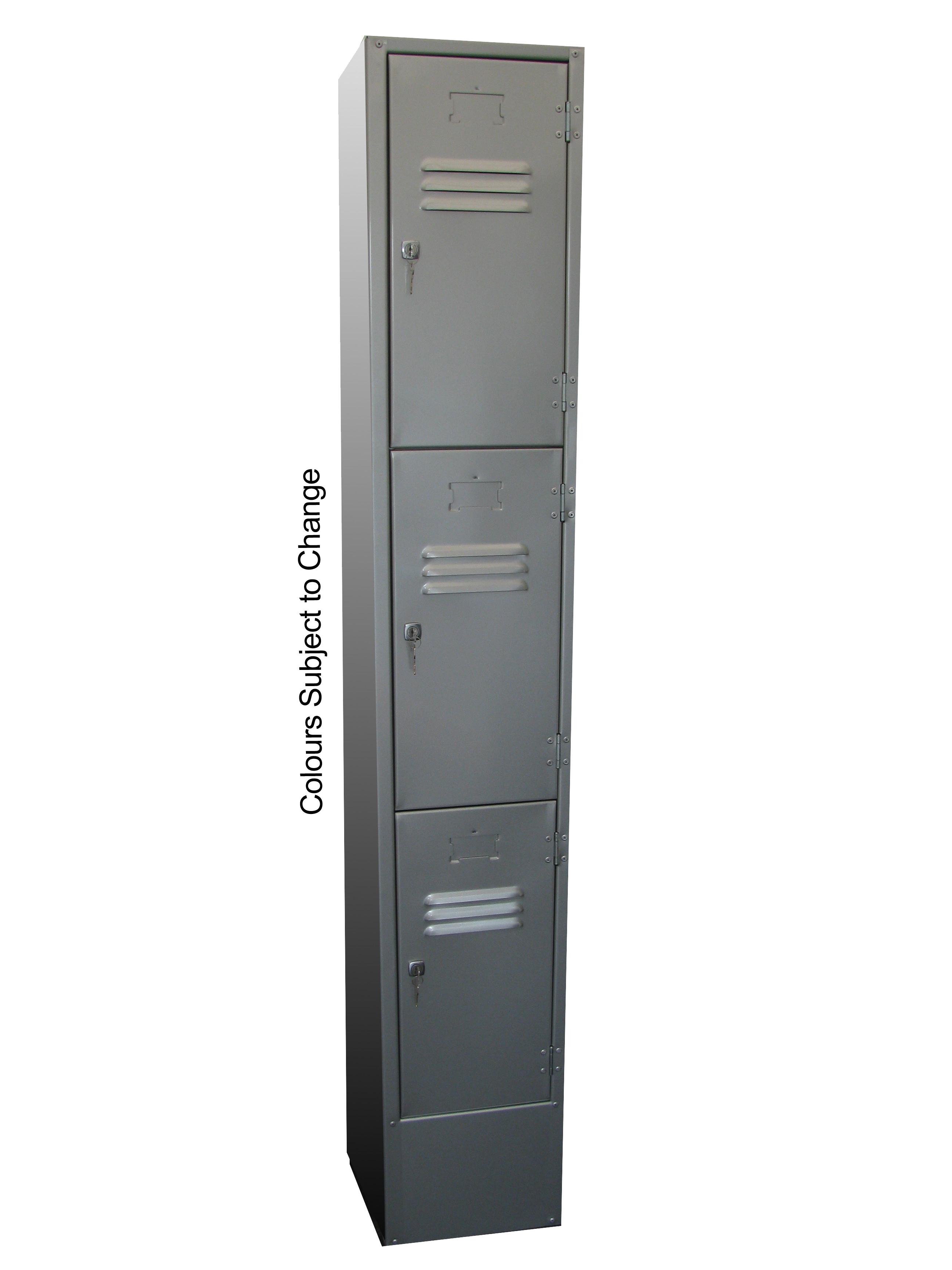 Steel Lockers – Three Door Steel Locker