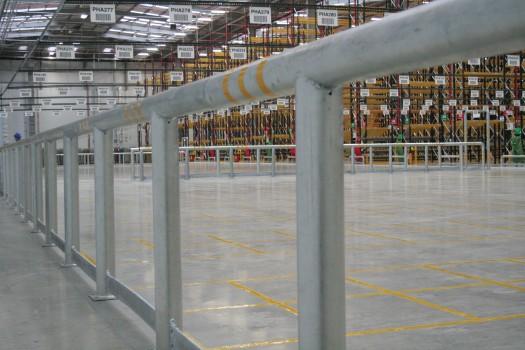 Warehouse Safety Railings
