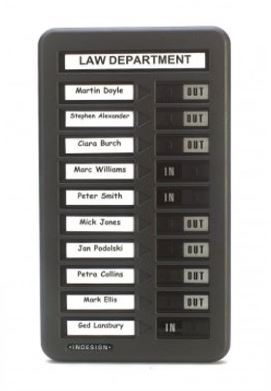 WPIT101 In Out Indicator Board