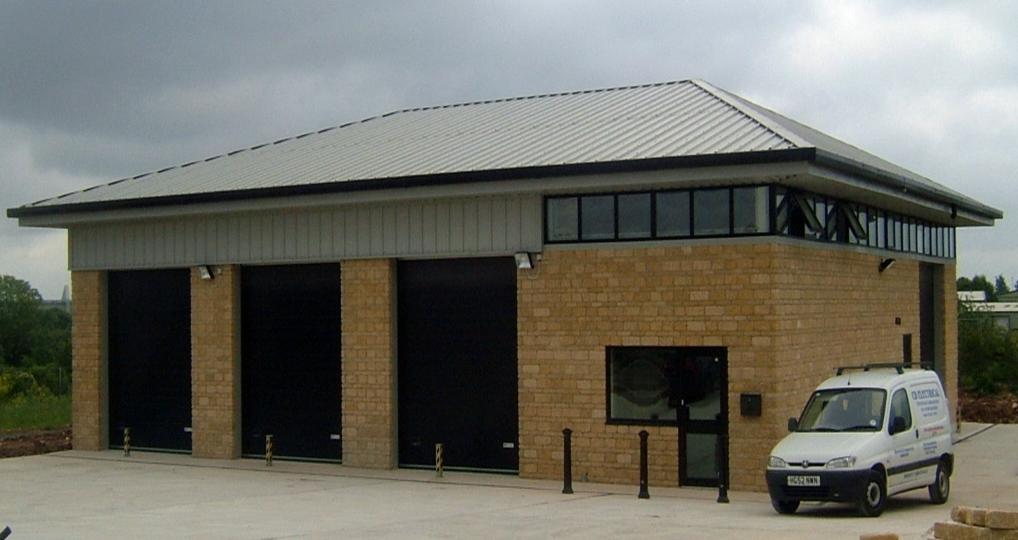 Steel Building – with Brickwork