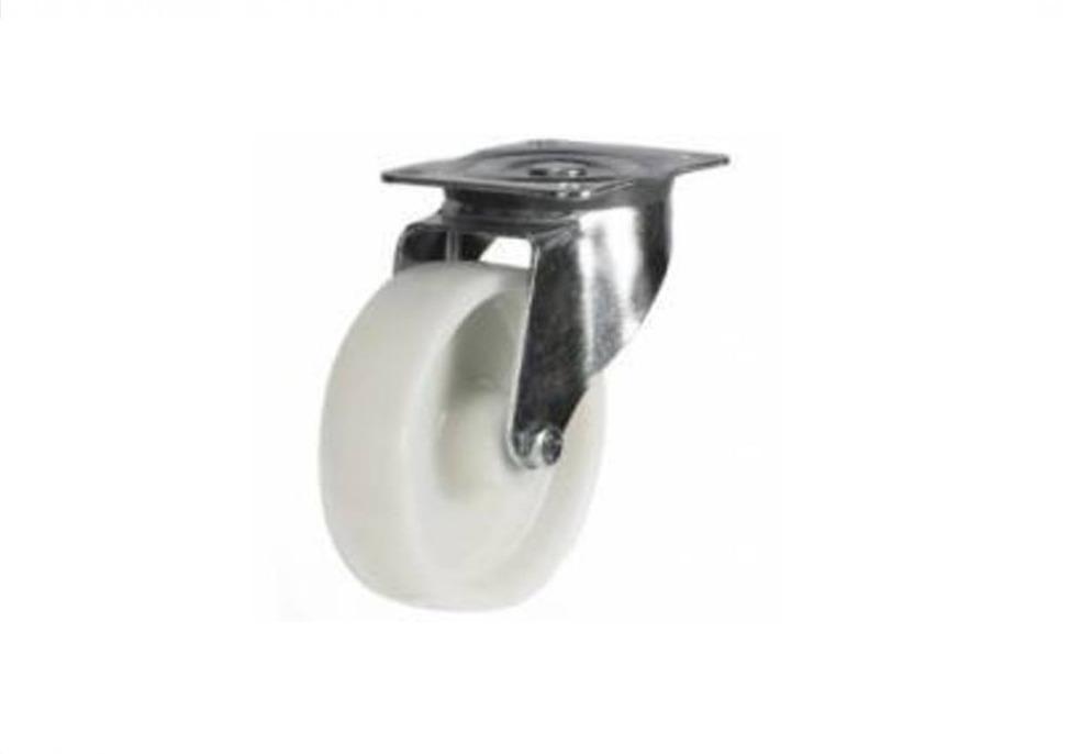 100mm White Nylon Swivel Castor