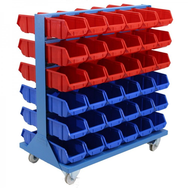 Mobile Trolley With 72 Parts Bins