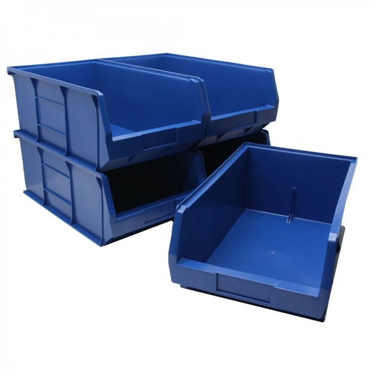 Coloured Plastic Parts Bins – Size 7