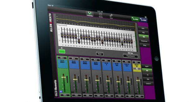 Allen & Heath releases GLD Remote iPad app for wireless mixing