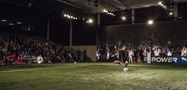 Sony projection scores with Hawk-Eye's evoPOWER PUMA football simulator