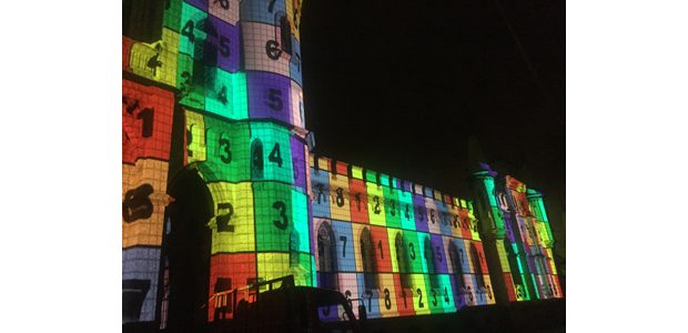 Projection mapping in Rio on