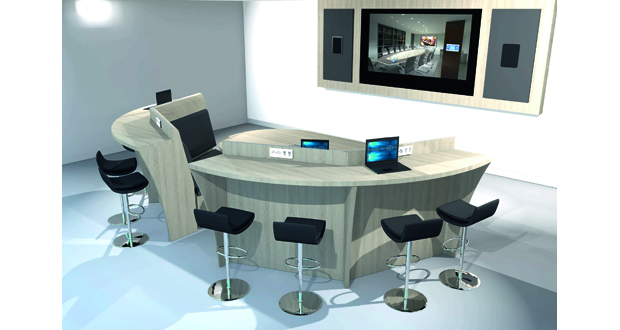 Axeos presents conference tables and telepresence solution