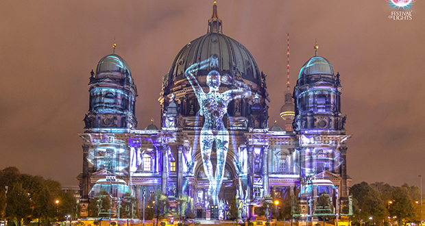 Digital Projection in video mapping firsts at Berlin festival on digital glasses, digital glass, digital compositing, digital illustration, digital drawing, digital technology, digital light, digital advertising, digital media, digital energy mapping, digital code, digital rendering,